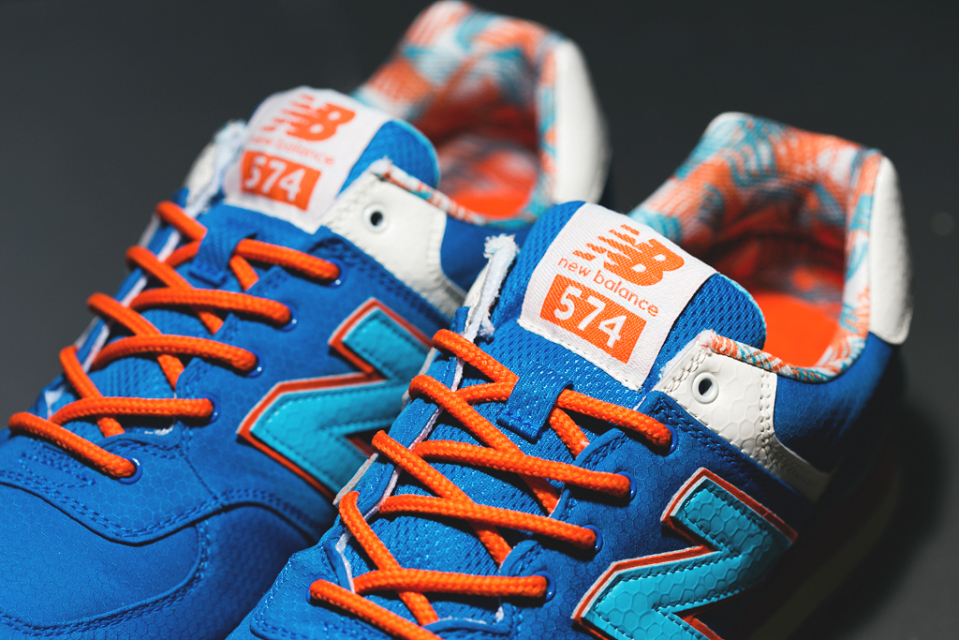 new balance trainers 574 orange