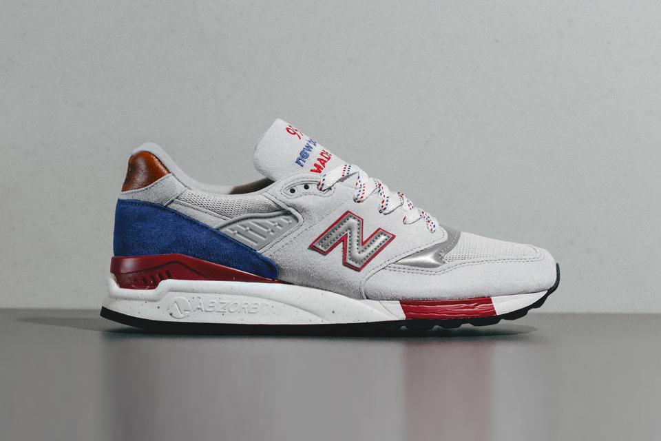Nouvel Équilibre 998 Gris / Bleu Marine / Rouge-blanc 5ErHVfWS3