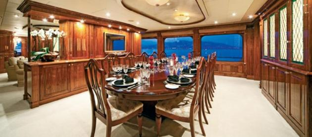 155 foot megayacht is selling for 19 9 million fooyoh for Dining room operations