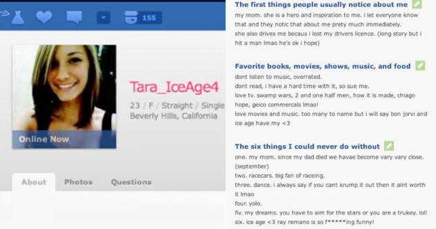 Creating fake online dating profiles