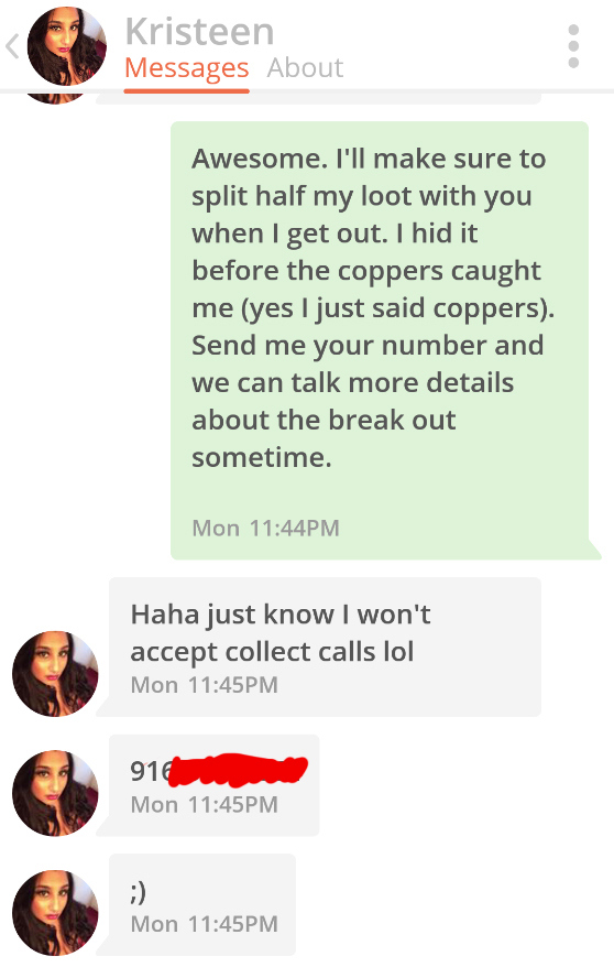 This Tinder Pickup Line Works All The Time :: FOOYOH