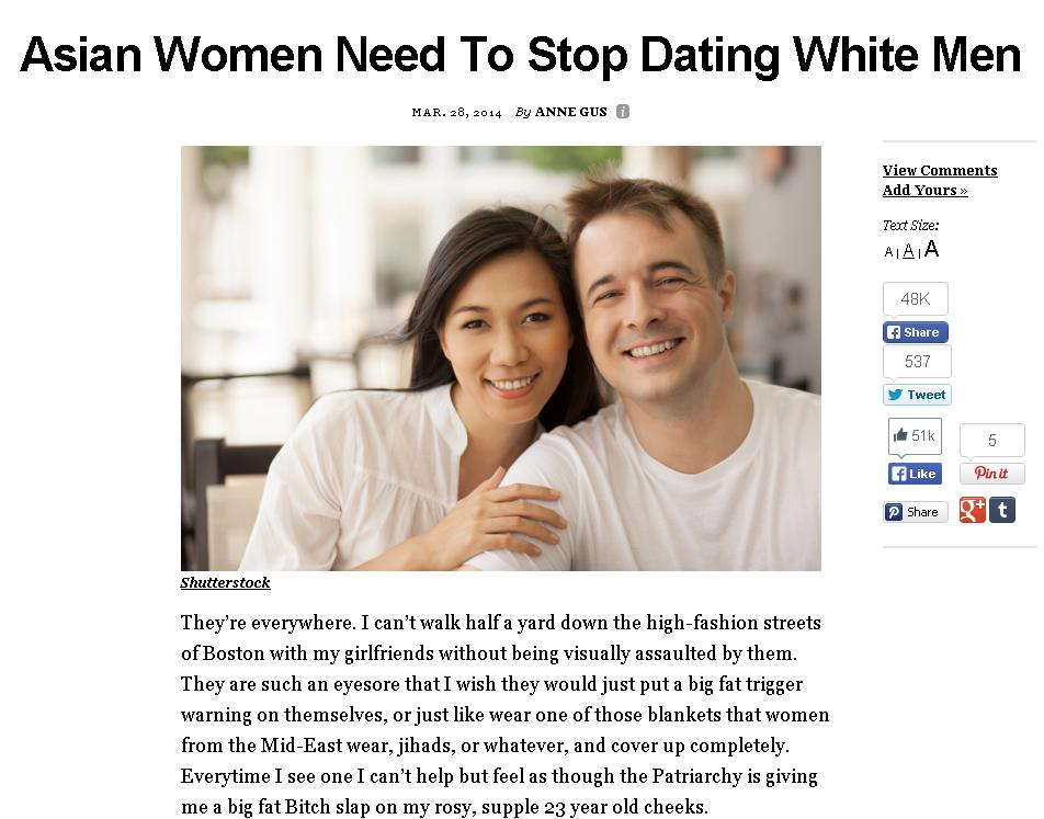 White man dating asian girl