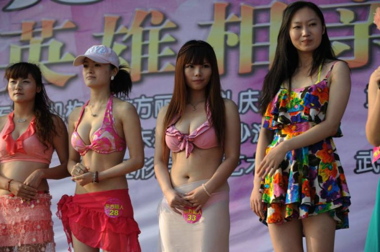 Woman tall chinese She is