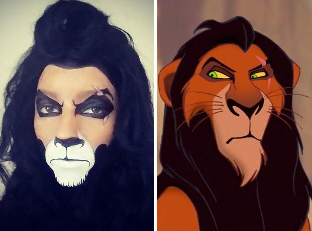 Lion king makeup