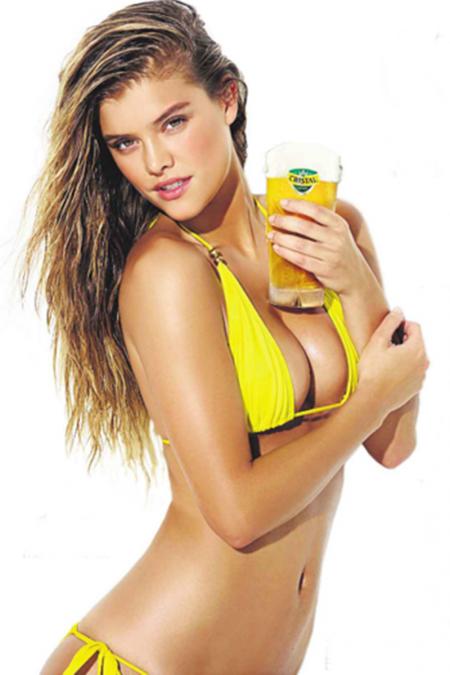 nina agdal models for cerveza cristal ad fooyoh