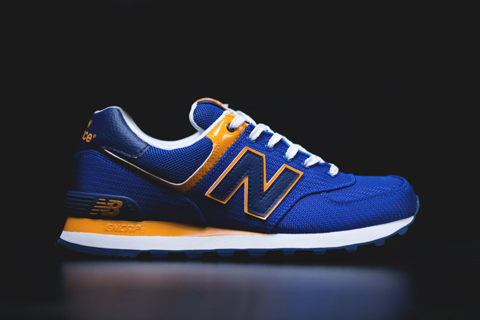 new balance 574 red blue yellow