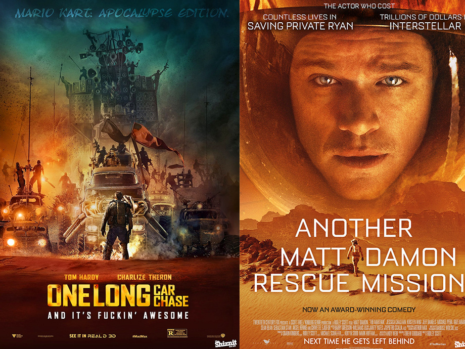 Honest oscar movie posters